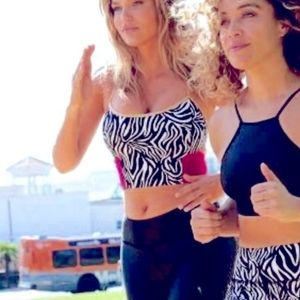 Fierce and Regal zebra sport bra top